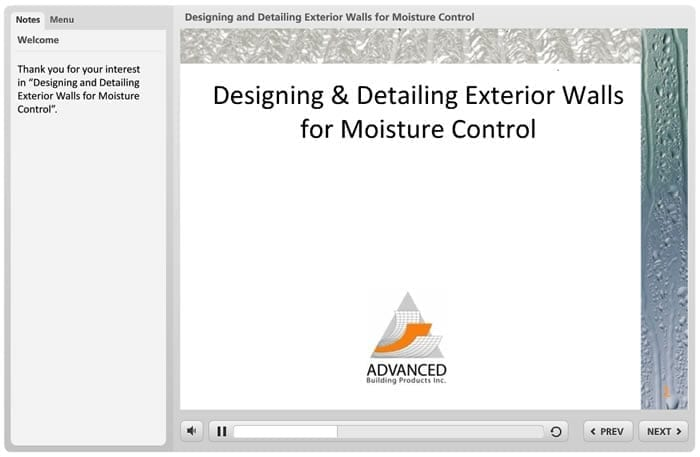 Designing and Detailing Exterior Wall for Moisture Control