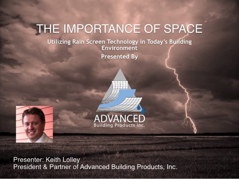 Education During Isolation – Episode 1: The Importance of Space – Utilizing Rain Screen Technology in Today's Building Environment Webinar